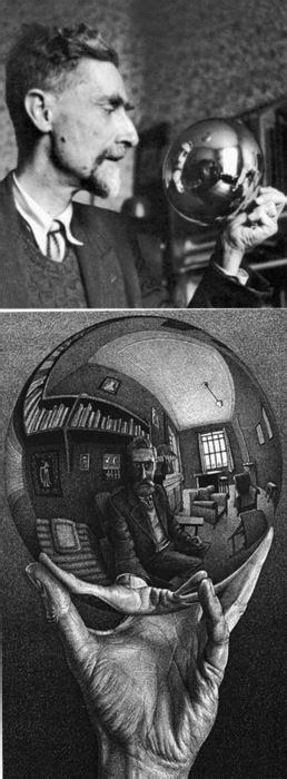 Escher, Mauritis (1899-1972) - 1935 #Self Portrait in