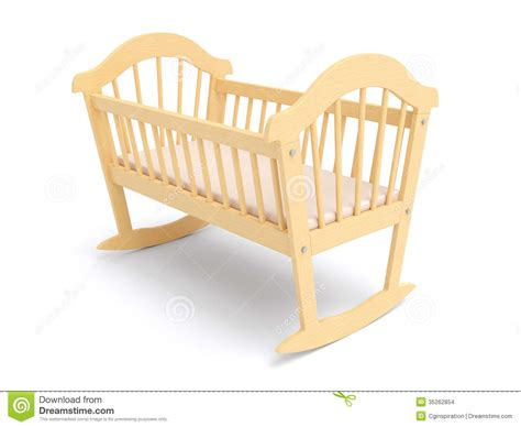 Z Cribs by Wooden Baby Crib Stock Images Image 35262854