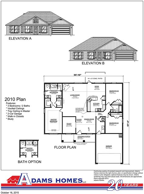 adams home floor plans oak hill estates adams homes