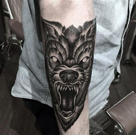 angry wolf tattoo 40 wolf forearm designs for masculine ink