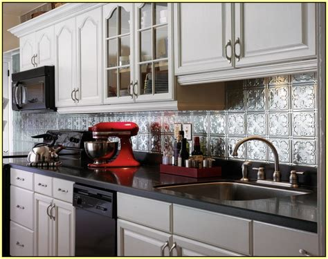 metal kitchen backsplash ideas metal tile backsplash ideas home design ideas