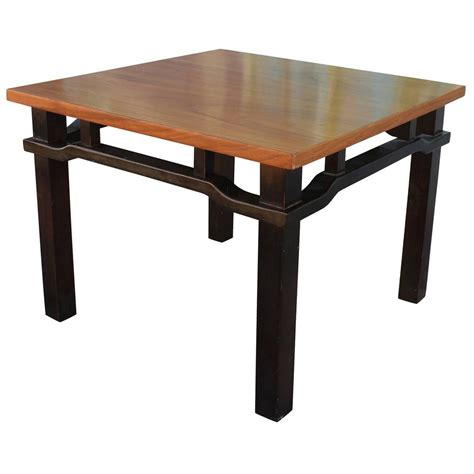 Two Tone End Table by Pair Of Two Tone Walnut Side Tables For Sale At