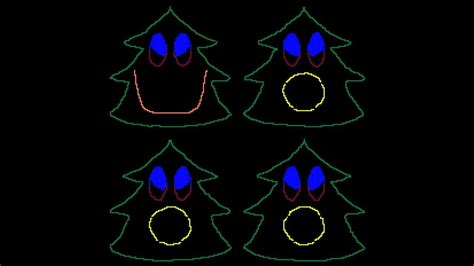 come on christmas singing christmas trees for light o
