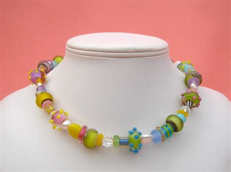 glass bead jewelry ideas matte glass bead necklaces beth redpath designs