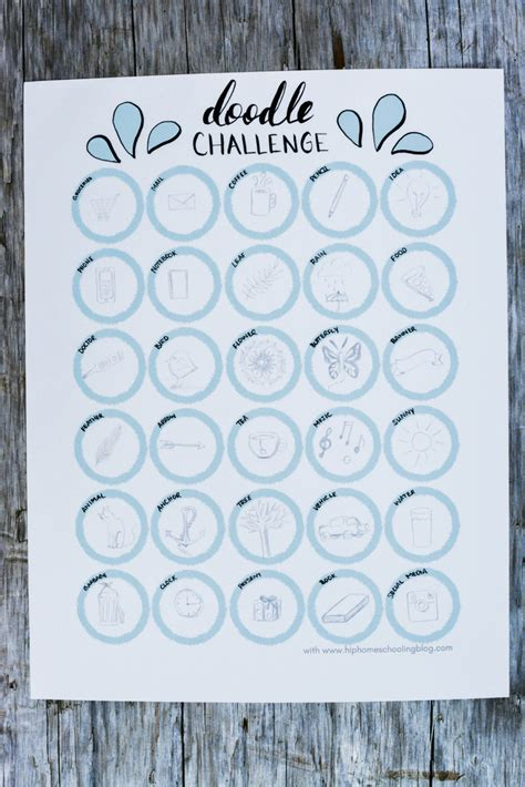 doodle challenge ideas free 30 day doodle challenge printable