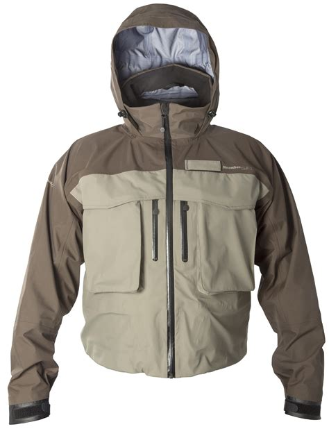 touchstone design wading jacket snowbee tackle clothing at the 2015 sportfish show