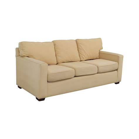 pottery barn loveseats 77 off pottery barn pottery barn tan three cushion sofa