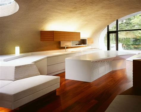 futuristic home design  natural environment  japan