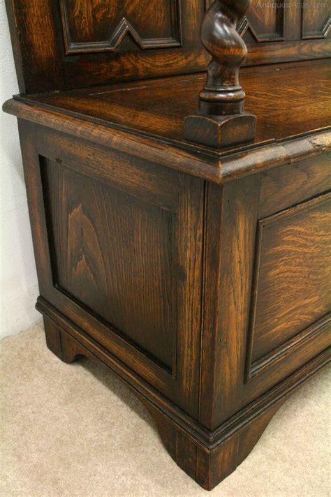 oak hall bench jacobean style oak hall bench antiques atlas