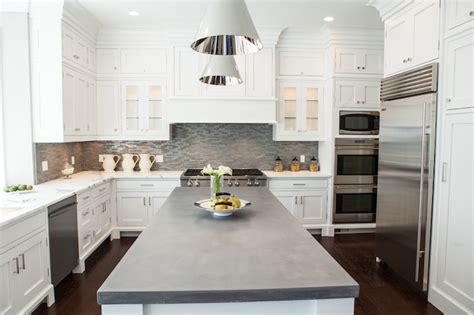 concrete kitchen countertops with white cabinets white kitchen cabinets concrete countertops quicua
