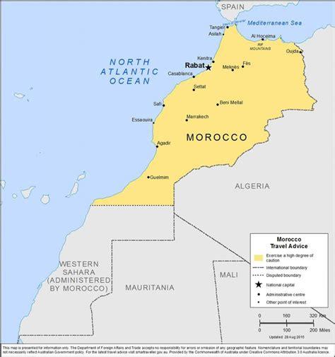 map  morocco  surrounding area morocco map