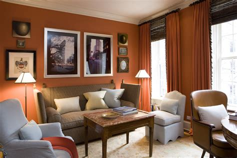 terracotta living room mad for matte 15 orange rooms that are anything but spooky lonny