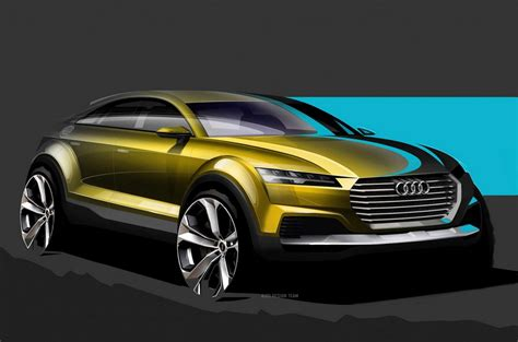 audi crossover 2014 new audi crossover teased official sketches