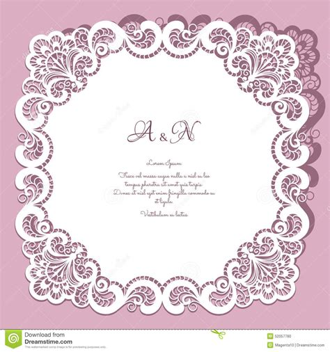 paper lace templates card square lace frame stock vector illustration of borders