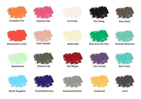 color chart funky junk s paint painted furniture