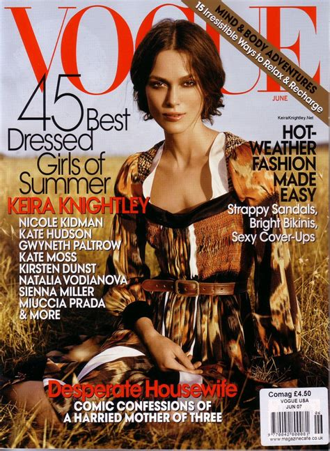 Keira Knightley In Vogue June 07 by June 2007 Keira Knightley Vogue Photo 80345 Fanpop