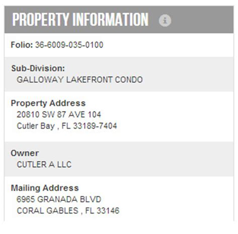 Miami Dade County Records Property Property Search Help Miami Dade County