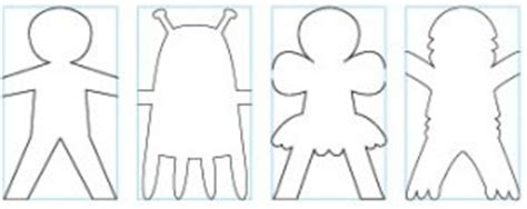 printable chain paper doll template fun games pinterest