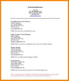 Reference Template by 7 Professional Reference List Billing Clerk Resume