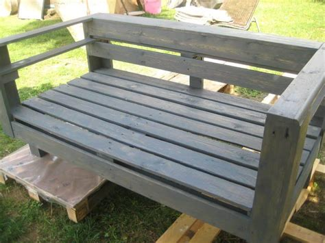 how to make a garden bench from a pallet diy pallet wood garden bench