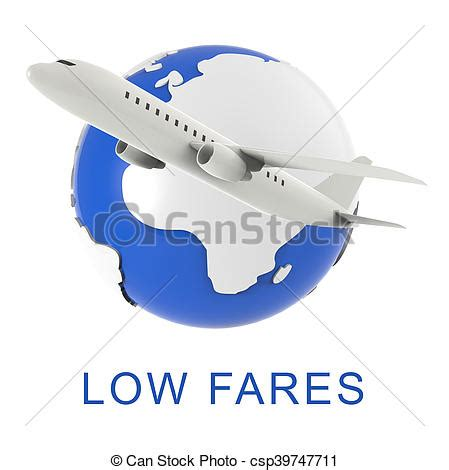 clipart of low fares shows discount airfare 3d rendering low fares csp39747711 search