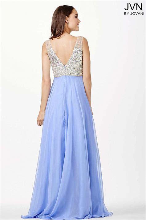 Crystal embellished bodice chiffon bridesmaid dress