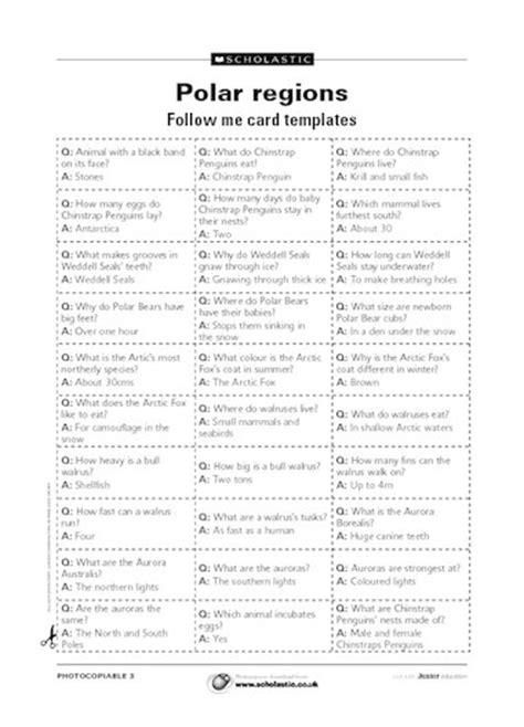 follow me card template polar regions follow me card templates free primary ks2