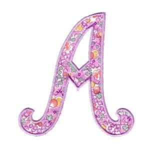 applique script alphabet machine embroidery designs