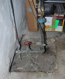 what is the best way to fill a in a concrete basement
