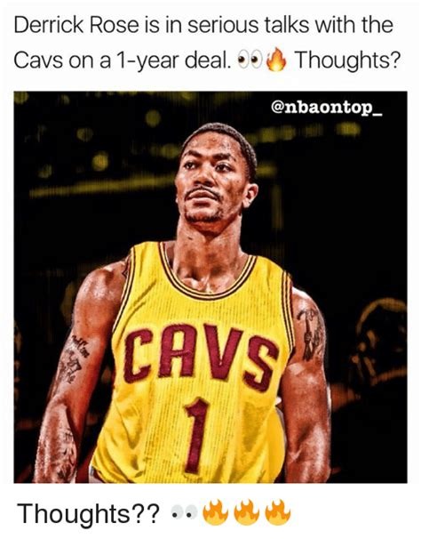 Derrick Rose Meme - derrick rose is in serious talks with the cavs on a 1 year dealthoughts cavs thoughts