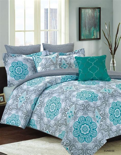teal and gray comforter sets 25 best ideas about teal bedding on pinterest