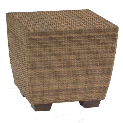 wicker accent table whitecraft by woodard saddleback wicker end table