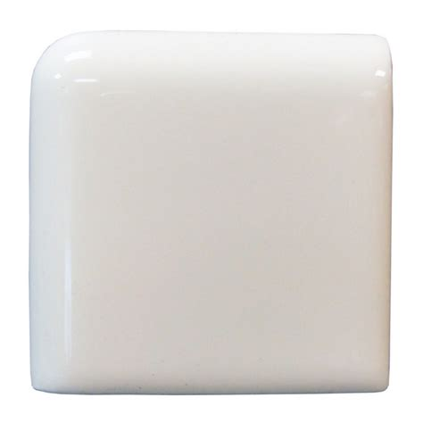 shop interceramic wall tile white ceramic bullnose tile common 2 in x 2 in actual 2 in x 2