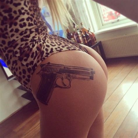 tattoo gun on thigh gun thigh tattoos designs ideas and meaning tattoos for you