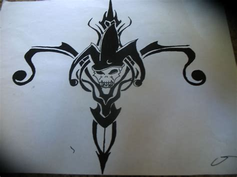 wicked tribal tattoos jester drawing at getdrawings free for
