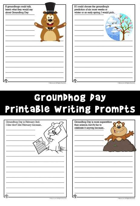 groundhog day journal prompts groundhog day writing prompt worksheets woo jr