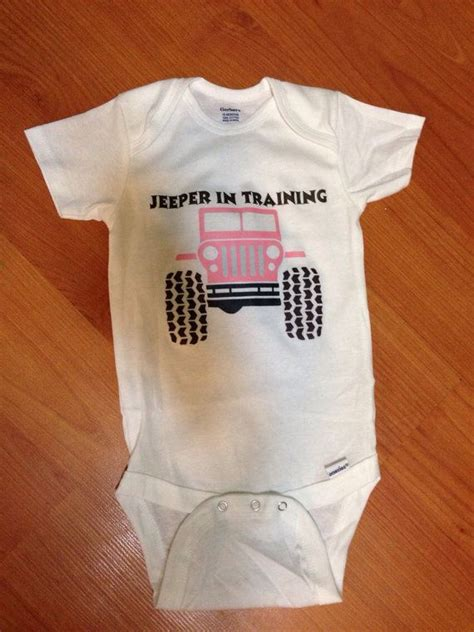 jeep baby clothes jeep baby onesie jeeper in training by jdbabytique on