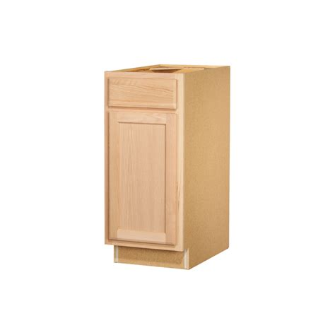 Kitchen Cabinet Doors Lowes Shop Kitchen Classics 35 In X 15 In X 23 75 In Unfinished Oak Door And Drawer Base Cabinet At