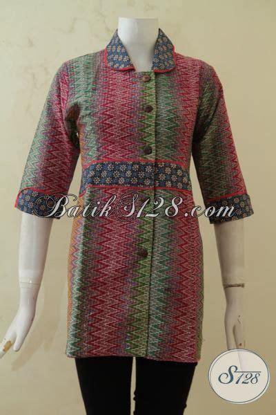 desain baju batik rangrang sedia pakaian batik blus desain formal baju kerja bahan