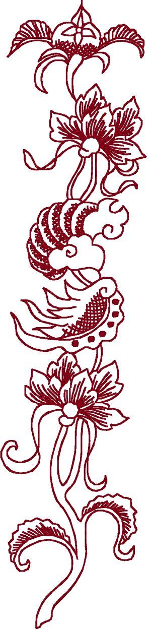 redwork oriental flora 1 embroidery design redwork oriental flora embroidery design