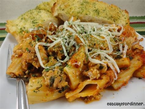 eat cake for dinner easy baked ziti with cottage cheese