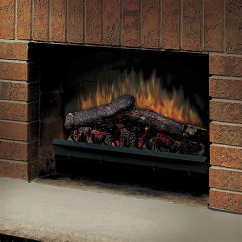 electric fireplace log set dimplex 23 quot deluxe electric fireplace insert led log set