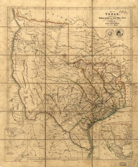 1800 texas map map of the republic of texas