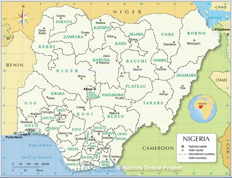 political map of nigeria ezilon maps administrative map of nigeria nations online project