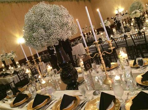 black and gold table wedding decorations black and gold siudy net