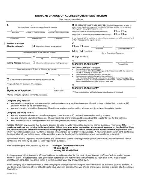 change of address form template voter id address change form 2 free templates in pdf