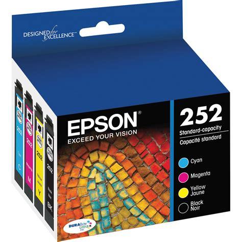 Tinta Printer Durabrite epson 252 durabrite ultra black color ink t252120 bcs b h