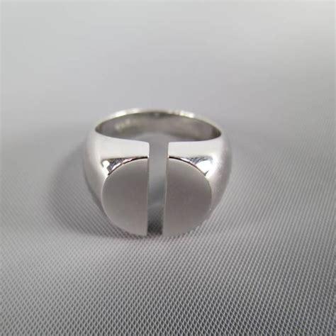 maison martin margiela sterling silver split ring at 1stdibs