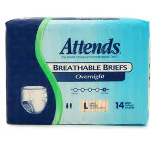 Walmart Overnight by Attends Overnight Breathable Briefs Large 14 Count Walmart