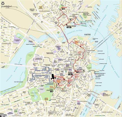 printable map boston maps update 21051488 boston city map tourist boston